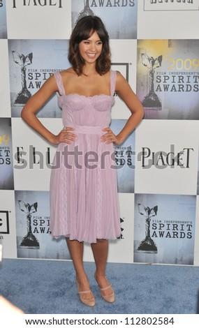 LOS ANGELES, CA - FEBRUARY 21, 2009: Jessica Alba at the Film Independent Spirit Awards on the beach at Santa Monica - stock photo