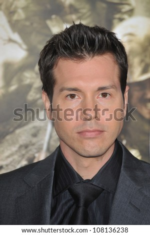 "LOS ANGELES, CA - FEBRUARY 24, 2010: Jon Seda at the premiere of his new HBO miniseries ""The Pacific"" at Grauman's Chinese Theatre, Hollywood."