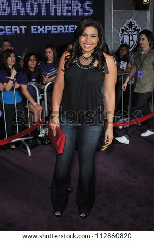 "LOS ANGELES, CA - FEBRUARY 24, 2009: Jordin Sparks at the world premiere of ""Jonas Brothers: The 3D Concert Experience"" at the El Capitan Theatre, Hollywood."