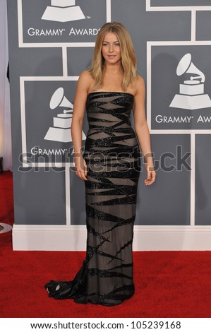 LOS ANGELES, CA - FEBRUARY 12, 2012: Julianne Hough at the 54th Annual Grammy Awards at the Staples Centre, Los Angeles. February 12, 2012  Los Angeles, CA