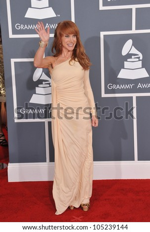 LOS ANGELES, CA - FEBRUARY 12, 2012: Kathy Griffin at the 54th Annual Grammy Awards at the Staples Centre, Los Angeles. February 12, 2012  Los Angeles, CA
