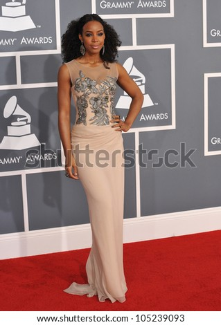 LOS ANGELES, CA - FEBRUARY 12, 2012: Kelly Rowland at the 54th Annual Grammy Awards at the Staples Centre, Los Angeles. February 12, 2012  Los Angeles, CA