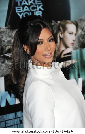 "LOS ANGELES, CA - FEBRUARY 16, 2011: Kim Kardashian at the Los Angeles premiere of ""Unknown"" at the Mann Village Theatre, Westwood. February 16, 2011  Los Angeles, CA"