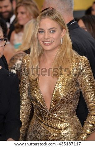 LOS ANGELES, CA - FEBRUARY 28, 2016: Margot Robbie at the 88th Academy Awards at the Dolby Theatre, Hollywood.