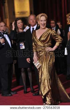LOS ANGELES, CA - FEBRUARY 26, 2012: Meryl Streep at the 84th Annual Academy Awards at the Hollywood & Highland Theatre, Hollywood.