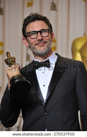 LOS ANGELES, CA - FEBRUARY 26, 2012: Michel Hazanavicius at the 82nd Academy Awards at the Hollywood & Highland Theatre, Hollywood.