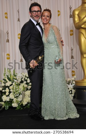 LOS ANGELES, CA - FEBRUARY 26, 2012: Michel Hazanavius & Berenice Bejo at the 82nd Academy Awards at the Hollywood & Highland Theatre, Hollywood.