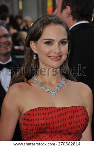 LOS ANGELES, CA - FEBRUARY 26, 2012: Natalie Portman at the 84th Annual Academy Awards at the Hollywood & Highland Theatre, Hollywood.  - stock photo