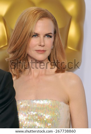 LOS ANGELES, CA - FEBRUARY 22, 2015: Nicole Kidman at the 87th Annual Academy Awards at the Dolby Theatre, Hollywood.  - stock photo