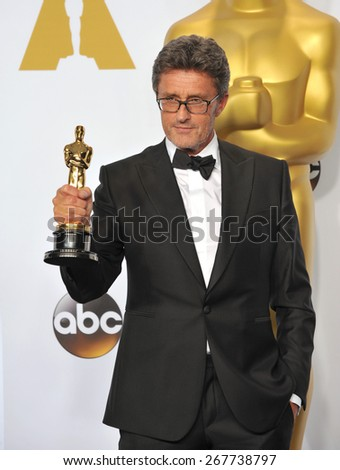LOS ANGELES, CA - FEBRUARY 22, 2015: Pawel Pawikowski at the 87th Annual Academy Awards at the Dolby Theatre, Hollywood.
