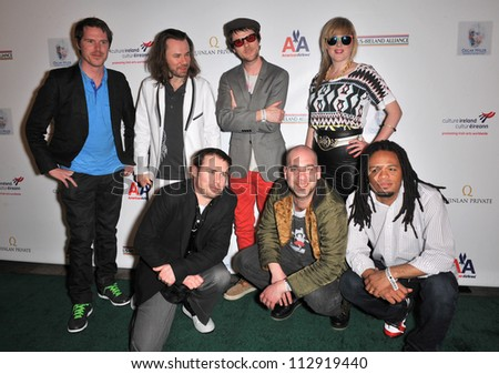 LOS ANGELES, CA - FEBRUARY 19, 2009: Republic of Loose at the US-Ireland Alliance Oscar Wilde Gala at the Ebell Club, Los Angeles. - stock photo
