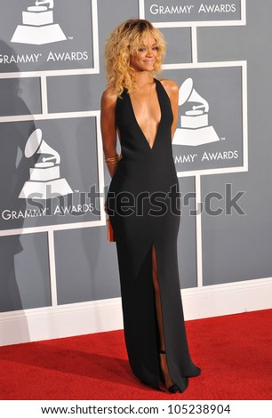 LOS ANGELES, CA - FEBRUARY 12, 2012: Rihanna at the 54th Annual Grammy Awards at the Staples Centre, Los Angeles. February 12, 2012  Los Angeles, CA