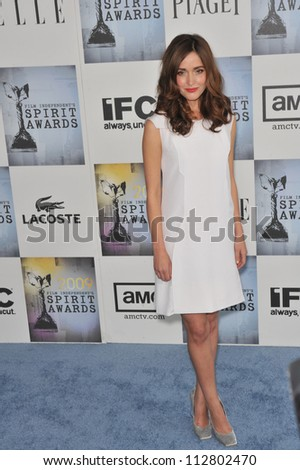 LOS ANGELES, CA - FEBRUARY 21, 2009: Rose Byrne at the Film Independent Spirit Awards on the beach at Santa Monica