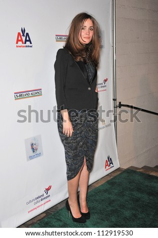 LOS ANGELES, CA - FEBRUARY 19, 2009: Rose Byrne at the US-Ireland Alliance Oscar Wilde Gala at the Ebell Club, Los Angeles. - stock photo