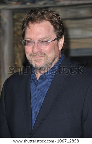 "LOS ANGELES, CA - FEBRUARY 14, 2011: Stephen Root at the Los Angeles premiere of the animated movie ""Rango"" at the Regency Village Theatre, Westwood. February 14, 2011  Los Angeles, CA"