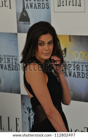 LOS ANGELES, CA - FEBRUARY 21, 2009: Teri Hatcher at the Film Independent Spirit Awards on the beach at Santa Monica