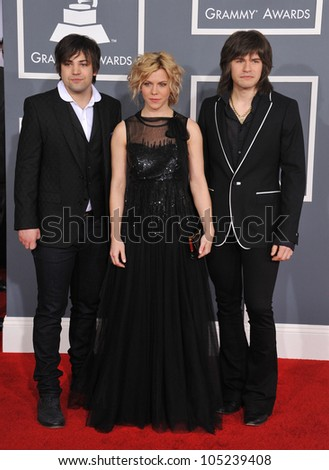 LOS ANGELES, CA - FEBRUARY 12, 2012: The Band Perry at the 54th Annual Grammy Awards at the Staples Centre, Los Angeles. February 12, 2012  Los Angeles, CA