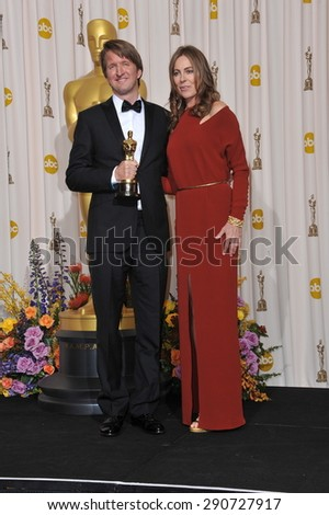 LOS ANGELES, CA - FEBRUARY 27, 2011: Tom Hooper & Kathryn Bigelow at the 83rd Academy Awards at the Kodak Theatre, Hollywood.