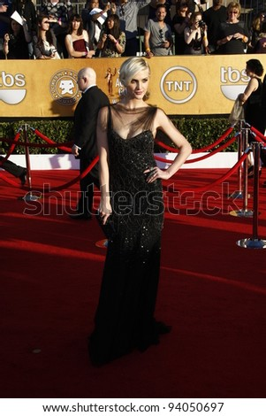 LOS ANGELES, CA - JAN 29: Ashlee Simpson at the 18th annual Screen Actor Guild Awards at the Shrine Auditorium on January 29, 2012 in Los Angeles, California - stock photo