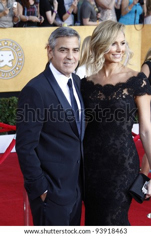LOS ANGELES, CA - JAN 29: George Clooney at the 18th annual Screen Actor Guild Awards at the Shrine Auditorium on January 29, 2012 in Los Angeles, California - stock photo