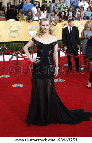 LOS ANGELES, CA - JAN 29: Heather Morris at the 18th annual Screen Actor Guild Awards at the Shrine Auditorium on January 29, 2012 in Los Angeles, California - stock photo