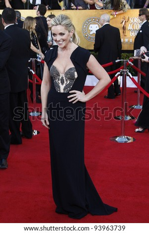 LOS ANGELES, CA - JAN 29: Jane Krakowski at the 18th annual Screen Actor Guild Awards at the Shrine Auditorium on January 29, 2012 in Los Angeles, California - stock photo
