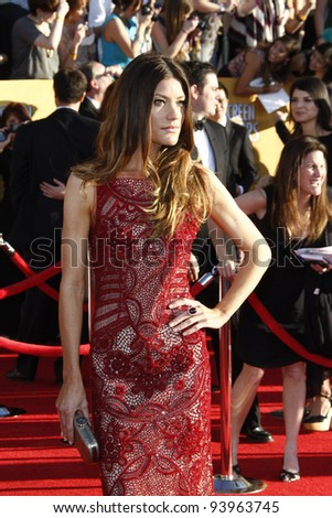 LOS ANGELES, CA - JAN 29: Jennifer Carpenter at the 18th annual Screen Actor Guild Awards at the Shrine Auditorium on January 29, 2012 in Los Angeles, California - stock photo