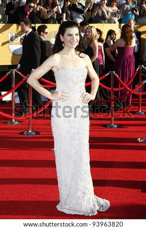 LOS ANGELES, CA - JAN 29: Julianna Margulies at the 18th annual Screen Actor Guild Awards at the Shrine Auditorium on January 29, 2012 in Los Angeles, California - stock photo