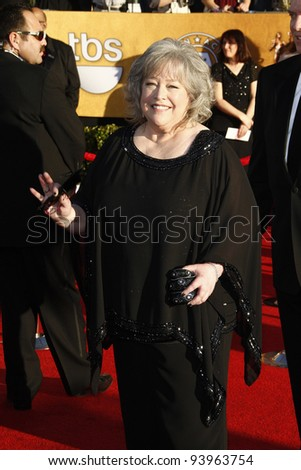 LOS ANGELES, CA - JAN 29: Kathy Bates at the 18th annual Screen Actor Guild Awards at the Shrine Auditorium on January 29, 2012 in Los Angeles, California - stock photo