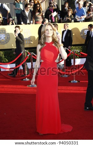 LOS ANGELES, CA - JAN 29: Kyra Sedgwick at the 18th annual Screen Actor Guild Awards at theShrine Auditorium on January 29, 2012 in Los Angeles, California - stock photo
