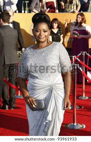 LOS ANGELES, CA - JAN 29: Octavia Spencer at the 18th annual Screen Actor Guild Awards at the Shrine Auditorium on January 29, 2012 in Los Angeles, California - stock photo