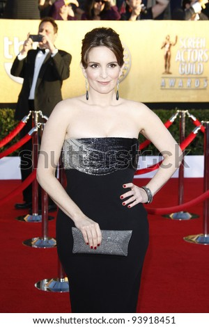 LOS ANGELES, CA - JAN 29: Tina Fey at the 18th annual Screen Actor Guild Awards at the Shrine Auditorium on January 29, 2012 in Los Angeles, California - stock photo