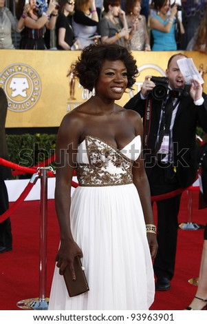 LOS ANGELES, CA - JAN 29: Viola Davis at the 18th annual Screen Actor Guild Awards at the Shrine Auditorium on January 29, 2012 in Los Angeles, California