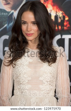 LOS ANGELES, CA - JANUARY 7: Abigail Spencer arrives at the premiere of Gangster Squad at Grauman's Chinese Theatre in Los Angeles, CA on January 7, 2013