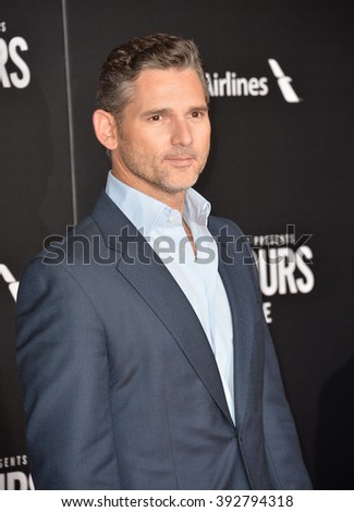 """LOS ANGELES, CA - JANUARY 25, 2016: Actor Eric Bana at the premiere of his movie """"The Finest Hours"""" at the TCL Chinese Theatre, Hollywood. - stock photo"""