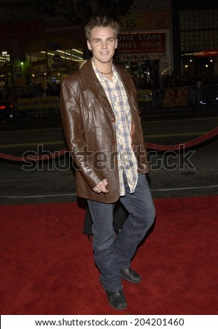 LOS ANGELES, CA - JANUARY 23, 2002: Actor RILEY SMITH at the Hollywood premiere of A Walk To Remember.  - stock photo
