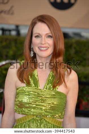 LOS ANGELES, CA - JANUARY 30, 2016: Actress Julianne Moore at the 22nd Annual Screen Actors Guild Awards at the Shrine Auditorium