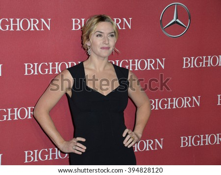 LOS ANGELES, CA - JANUARY 2, 2016: Actress Kate Winslet at the 2016 Palm Springs International Film Festival Awards Gala - stock photo