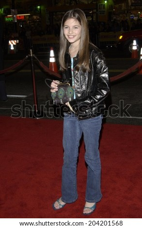LOS ANGELES, CA - JANUARY 23, 2002: Actress MEREDITH DEANE at the Hollywood premiere of A Walk To Remember.  - stock photo