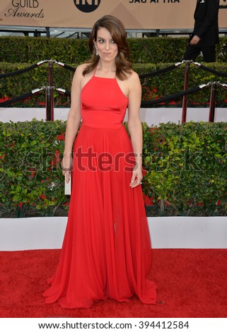 LOS ANGELES, CA - JANUARY 30, 2016: Actress Tina Fey at the 22nd Annual Screen Actors Guild Awards at the Shrine Auditorium
