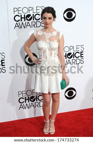 LOS ANGELES, CA - JANUARY 8, 2014: Adelaide Kane at the 2014 People's Choice Awards at the Nokia Theatre, LA Live.  - stock photo