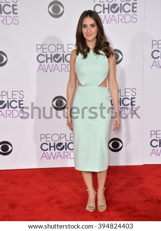 LOS ANGELES, CA - JANUARY 6, 2016: Alison Brie at the People's Choice Awards 2016