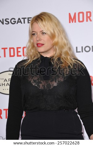 """LOS ANGELES, CA - JANUARY 21, 2015: Amanda de Cadenet at the Los Angeles premiere of """"Mortdecai"""" at the TCL Chinese Theatre, Hollywood.  - stock photo"""