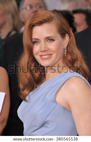 LOS ANGELES, CA - JANUARY 11, 2015: Amy Adams at the 72nd Annual Golden Globe Awards at the Beverly Hilton Hotel, Beverly Hills. - stock photo