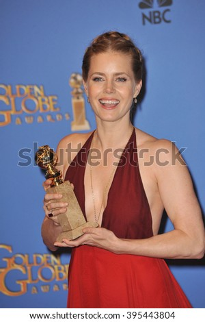 LOS ANGELES, CA - JANUARY 12, 2014: Amy Adams in the press room at the 71st Annual Golden Globe Awards