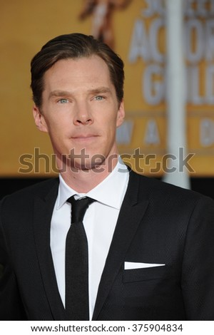 LOS ANGELES, CA - JANUARY 18, 2014: Benedict Cumberbatch at the 20th Annual Screen Actors Guild Awards at the Shrine Auditorium.