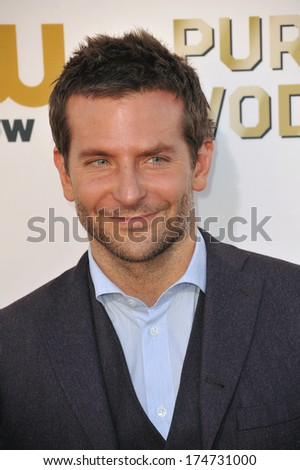 LOS ANGELES, CA - JANUARY 16, 2014: Bradley Cooper at the 19th Annual Critics' Choice Awards at The Barker Hangar, Santa Monica Airport.  - stock photo
