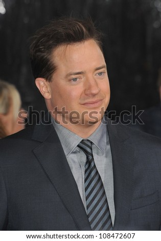 "LOS ANGELES, CA - JANUARY 19, 2010: Brendan Fraser at the premiere of his new movie ""Extraordinary Measures"" at Grauman's Chinese Theatre, Hollywood."