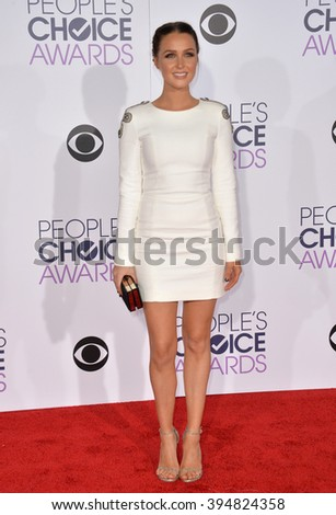 LOS ANGELES, CA - JANUARY 6, 2016: Camilla Luddington at the People's Choice Awards 2016