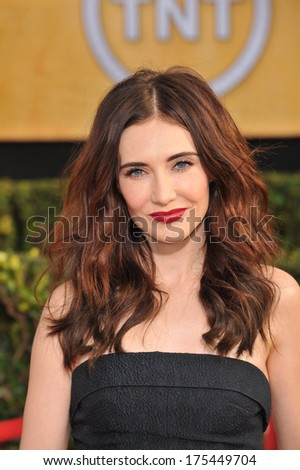 LOS ANGELES, CA - JANUARY 18, 2014: Carice van Houten at the 20th Annual Screen Actors Guild Awards at the Shrine Auditorium.  - stock photo